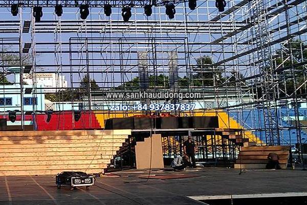 Sân khấu lắp ghép di động layer truss